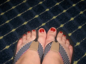 Them's my pretty toes